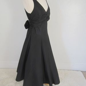 Vtg Cache Black Taffeta Maxi Dress 12